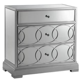 Emporia Silvertone/ Mirrored Storage Chest, Overstock.com