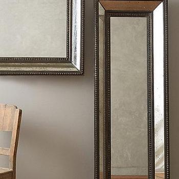 Mirrors - Gentry Mirror I Anthropologie - beaded frame mirror, narrow beaded venetian mirror, antiqued beaded mirror, beaded venetian mirror, square beaded venetian mirror,