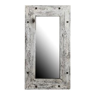 Mirrors - Reclaimedium Mirror  / Distressed | Overstock.com - distressed gray mirror, reclaimed wood frame mirror, whitewashed mirror, distressed gray rectangular mirror,