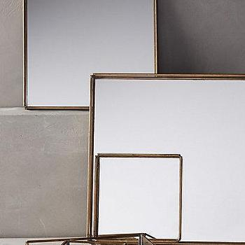 Decor/Accessories - Mirrored Nesting Trays I Anthropologie - mirrored trays, mirrored nesting trays, brass and mirror tray, nesting trays,