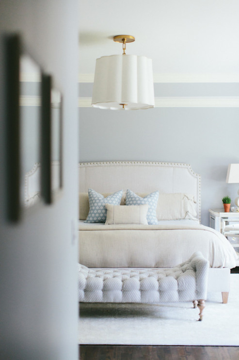 Ivory And Blue Bedrooms Transitional Bedroom Kate Marker Interiors