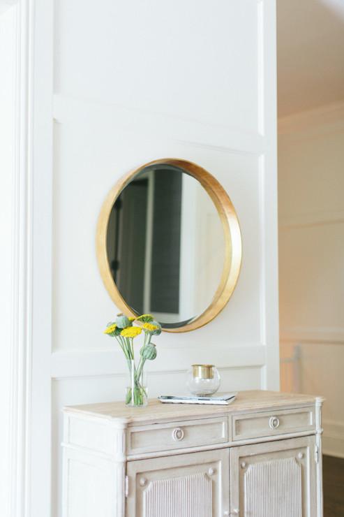 Gold Foyer Mirror : Photo