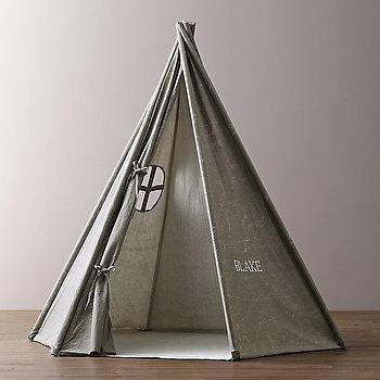 Distressed Canvas Play Tent I RH Baby and Child