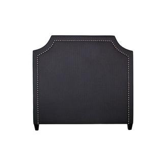 Beds/Headboards - inncdesign Contemporary Grey Quincy Headboard | Overstock.com - gray cut corner headboard, charcoal gray headboard, dark gray headboard, gray headboard with nailhead trim,