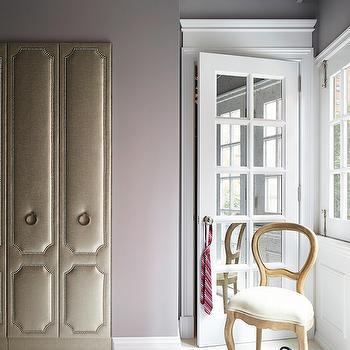 Wardrobe with Nailhead Trim, Transitional, closet, Rob Stuart Interiors