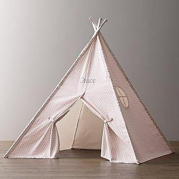 Printed Canvas Teepee Tent I RH Baby and Chid