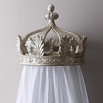 Pewter Canopy Bed Crown I RH Baby and Child