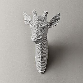 Art/Wall Decor - Papier-Mache Giraffe Head - giraffe wall art, giraffe faux taxidermy, giraffe papier mache, giraffe papier mache head,