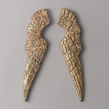 Gilt Angel Wings I RH Baby and Child
