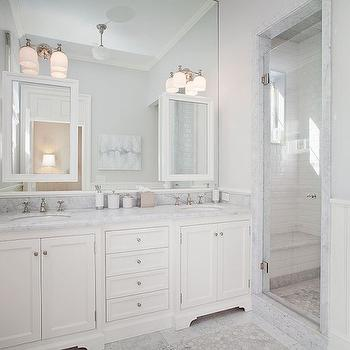 White and Grey Bathrooms, Transitional, bathroom, RT Abbott Construction