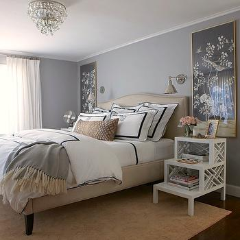 Step Nightstand, Transitional, bedroom, Benjamin Moore San Antonio Gray, Erin Gates Design