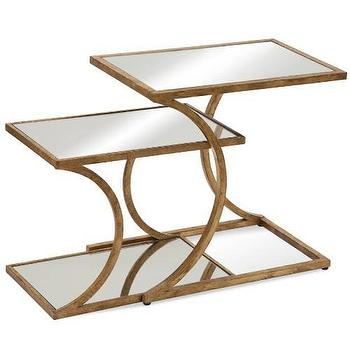 Tables - Bassett Mirror Clement Nesting Accent Table I Homeclick - gold leaf nesting table, gold mirrored nesting table, antiqued gold nesting tables, contemporary gold nesting tables,