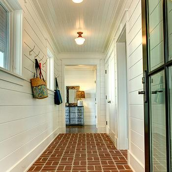 Interior Brick Pavers, Cottage, laundry room, Asher Associates Architects