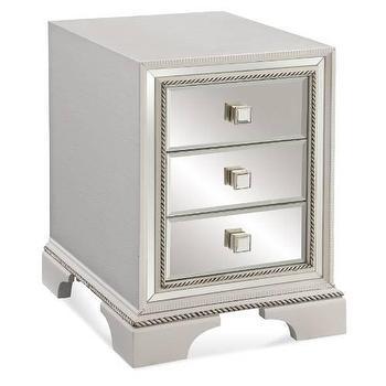Bassett Mirror Armando Chairside Chest in White I Homeclick
