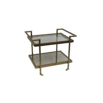 Tables - Bassett Mirror Fouquet Rectangular End Table I Homeclick - bronze end table, bronze mirrored end table, bronze bar table, modern bronze end table,