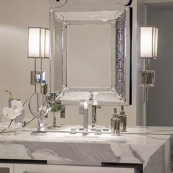 Distressed Washstand Contemporary Bathroom Chad