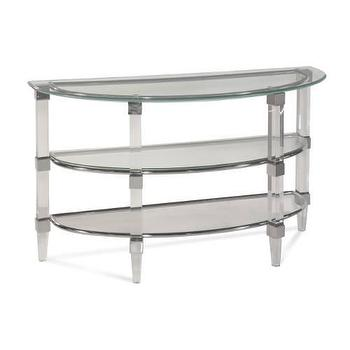 Cristal Console Table in Acrylic and Chrome I Homeclick