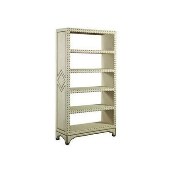 Elation Hampton Tailored Open Bookcase in Natural Linen I Homeclick