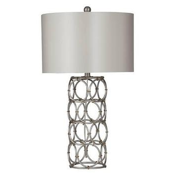 Lighting - Bassett Mirror Manning Table Lamp in Silver and Gold I Homeclick - silver and gold table, silver ring table lamp, modern silver and gold lamp,