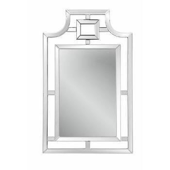 Mirrors - Bassett Mirror Bonifacio Wall Mirror in Clear I Homeclick - mirror framed mirror, transitional wall mirror, beveled frame mirror, modern beveled mirror,