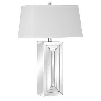 Bassett Mirror Julian Table Lamp in Clear I Homeclick
