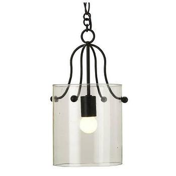 Lighting - Currey and Company Hudson 1 Light Wrought Iron Pendant I Homeclick - recycled glass pendant light, glass and iron pendant light, glass cylinder pendant light,