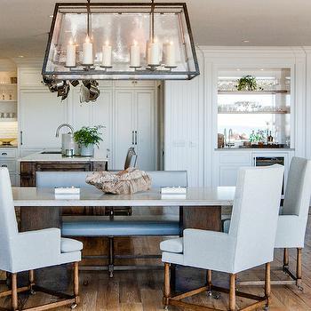 Linear Light Pendant, Transitional, kitchen, Fleming Distinctive Homes