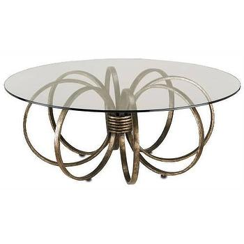Tables - Currey and Company Penthouse Cocktail Table I Homeclick - bronze coffee table, bronze and glass coffee table, bronze wrought iron coffee table,