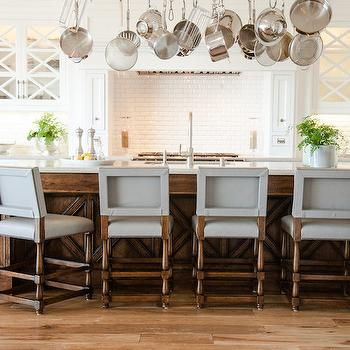 Over The Island Pot Rack, Transitional, kitchen, Fleming Distinctive Homes