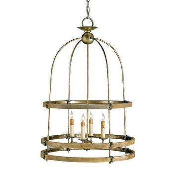 Lighting - Currey and Company Beesthorpe 4 Light Lantern I Homeclick - bronze cage lantern pendant, bronze open lantern pendant, bronze arch top lantern pendant,