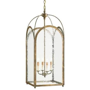 Currey and Company 9035 Loggia 4 Light Lantern in Rustic Gold I Homeclick