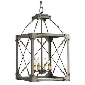 Currey and Company Salvage 4 Light Lantern I Homeclick