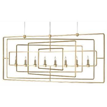 Currey and Company Metro 8 Light Rectangular Island Light I Homeclick