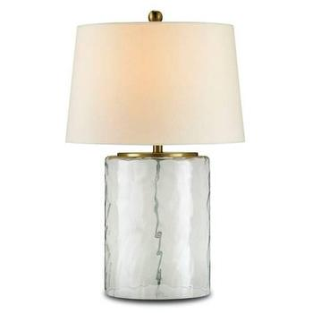 Currey and Company Oscar Table Lamp in Brass with Clear Glass I Homeclick