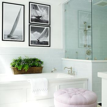 Wainscoted Bathtub, Transitional, bathroom, Pratt and Lambert Designer White, Coastal Living
