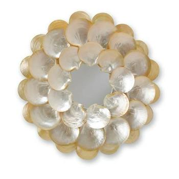 Currey and Company Mother of Pearl Round Mirror I Homeclick