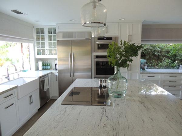 River White Granite Transitional Kitchen K Sarah Designs