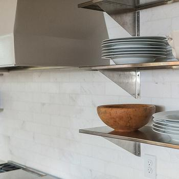 Stainless Steel Shelves, Transitional, kitchen, Christopher Architects