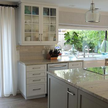 Pumice Subway Tiles, Transitional, kitchen, Sherwin Williams Dorian Gray, K Sarah Designs