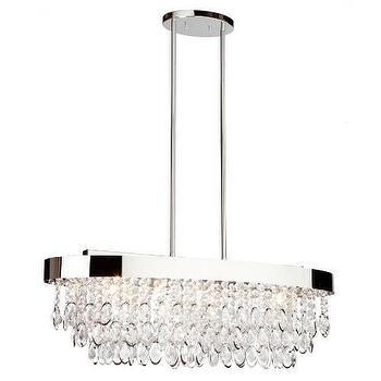 Lighting - Artcraft Elegante 10-3 4 5 Light Chandelier in Chrome I Homeclick - oval chandelier, oval crystal chandelier, oval crystal and chrome chandelier, oval crystal fringe chandelier,