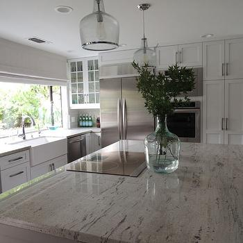 River White Granite, Transitional, kitchen, Sherwin Williams Dorian Gray, K Sarah Designs