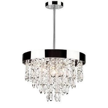 Lighting - Artcraft Elegante 12 3 Light Chandelier in Chrome I Homeclick - oval crystal chandelier, crystal and chrome chandelier, round crystal droplet chandelier,