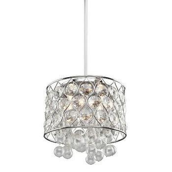 Lighting - Artcraft Cascade 4 Light Chandelier in Chrome I Homeclick - crystal bubble chandelier, round crystal and chrome chandelier, chrome chandelier with crystal, chrome chandelier with crystal bubbles, crystal bubble chandelier,