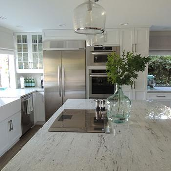 River White Granite, Transitional, kitchen, K Sarah Designs