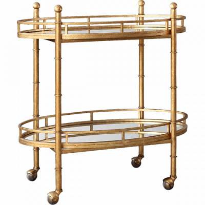 Gold Normandy Bar Cart Look for Less