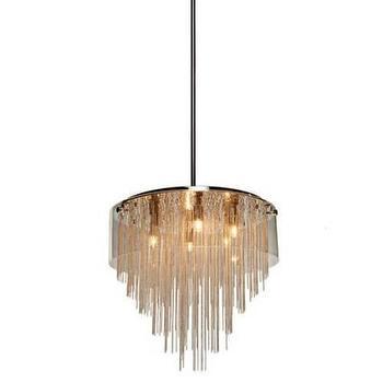 Lighting - Artcraft Century City 6 Light Pendant in Chrome I Homeclick - glass rod pendant, glass cylinder pendant, glass rod chandelier,