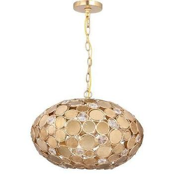 Lighting - Crystorama Bella 4 Light Chandelier in Antique Gold I Homeclick - gold oval chandelier, gold mosaic chandelier, gold disc chandelier,