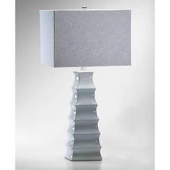 Lighting - Cyan Design Emily 1 Light Table Lamp in White I Homeclick - modern pagoda lamp, gray pagoda lamp, pagoda shaped lamp, modern gray lamp,