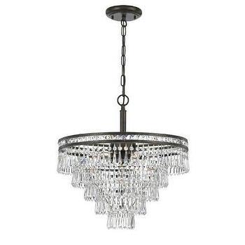 Lighting - Crystorama Mercer 6 Light Hand Cut Crystal Chandelier I Homeclick - crystal waterfall chandelier, crystal and wrought iron chandelier, tiered crystal chandelier, crystal wedding cake chandelier,