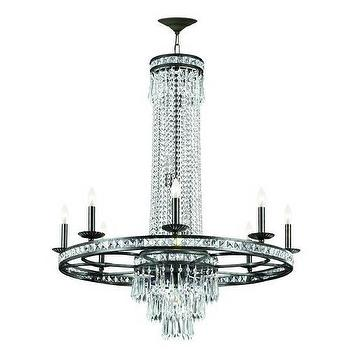 Lighting - Crystorama Mercer 8 Light Chandelier in English Bronze I Homeclick - crystal and iron chandelier, crystal and wrought iron chandelier, circular iron and crystal chandelier, transitional iron and crystal chandelier,